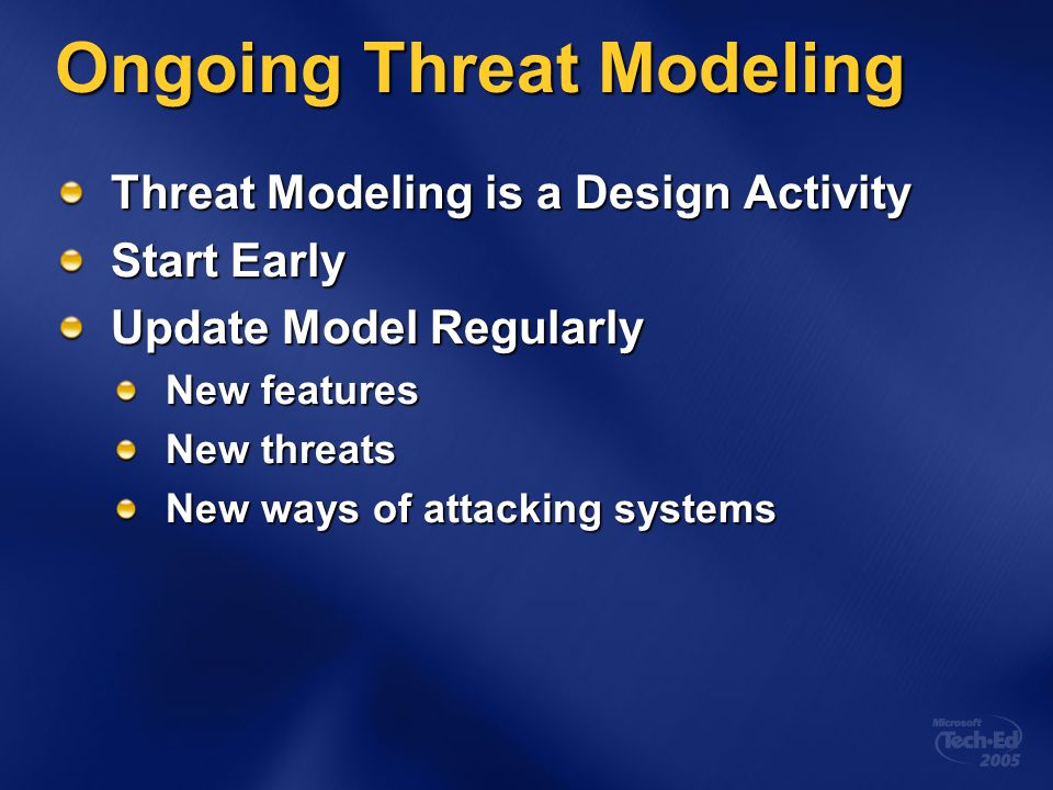 Ongoing Threat Modeling