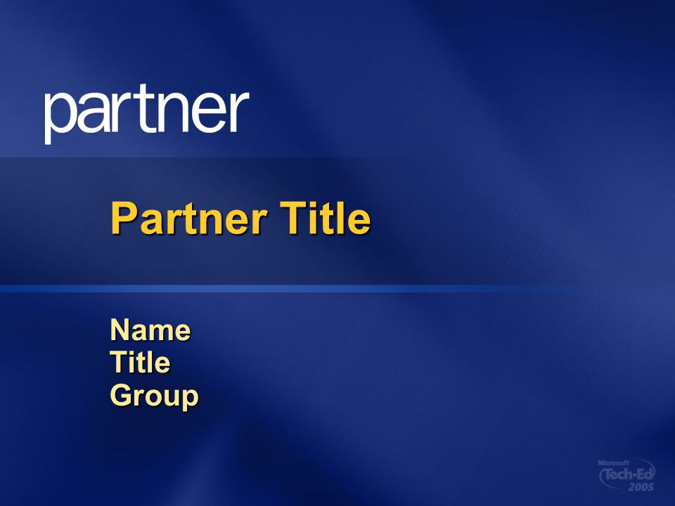 Partner Title Name Title Group 4/5/2017 6:31 AM