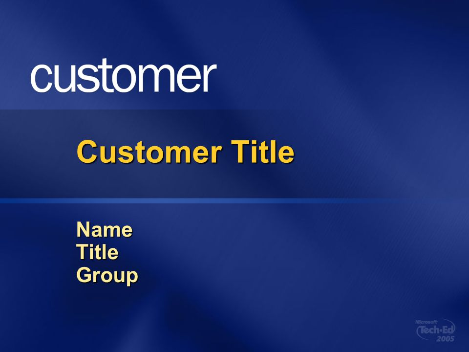 Customer Title Name Title Group 4/5/2017 6:31 AM