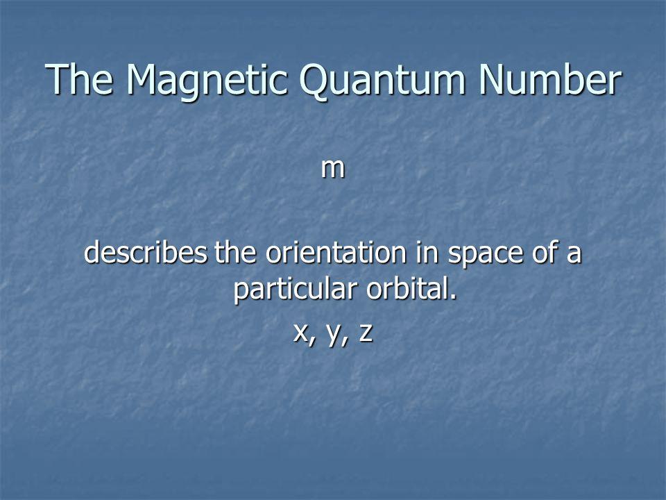 The Magnetic Quantum Number