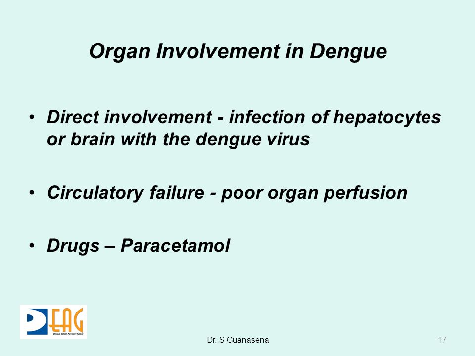 Organ Involvement in Dengue