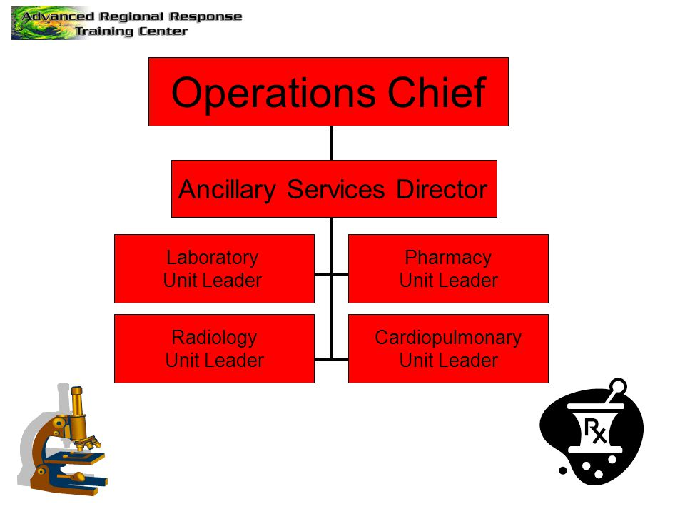 Operations Chief Ancillary Services Director Laboratory Unit Leader