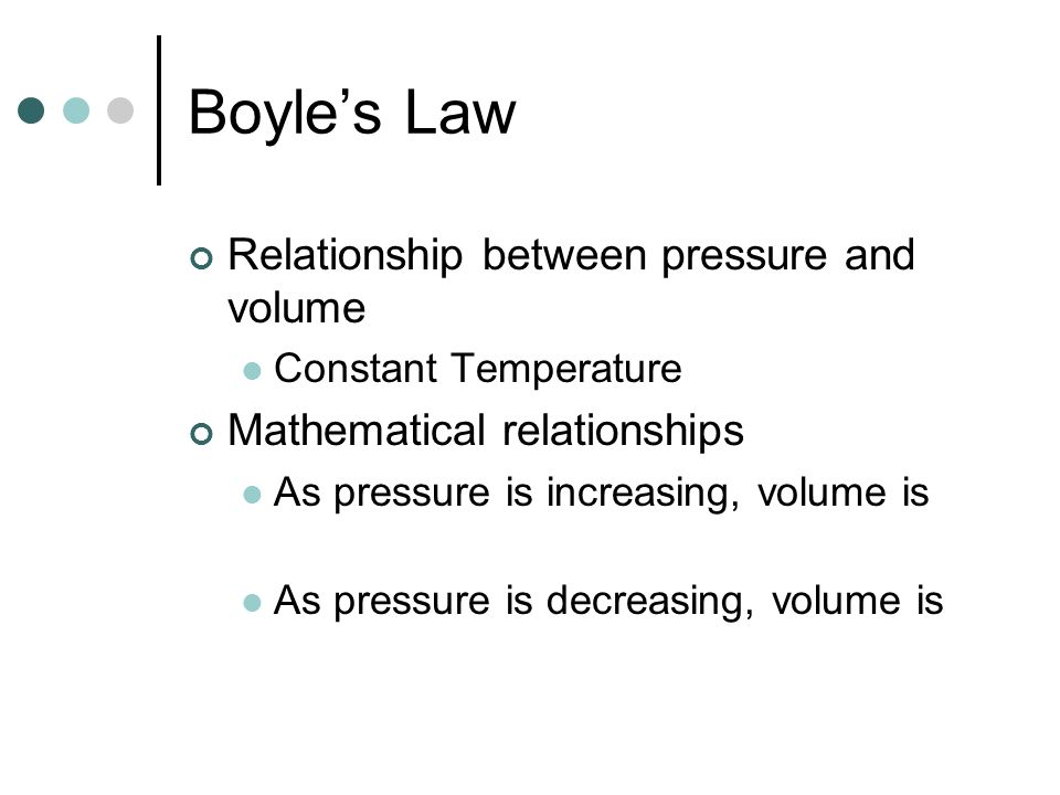 relationship between force pressure and volume