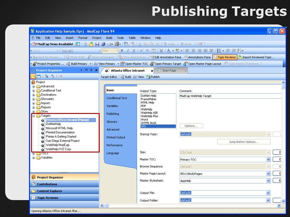 Publishing Targets