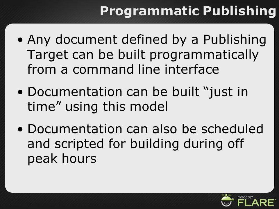 Programmatic Publishing