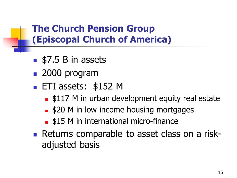 The Church Pension Group (Episcopal Church of America)