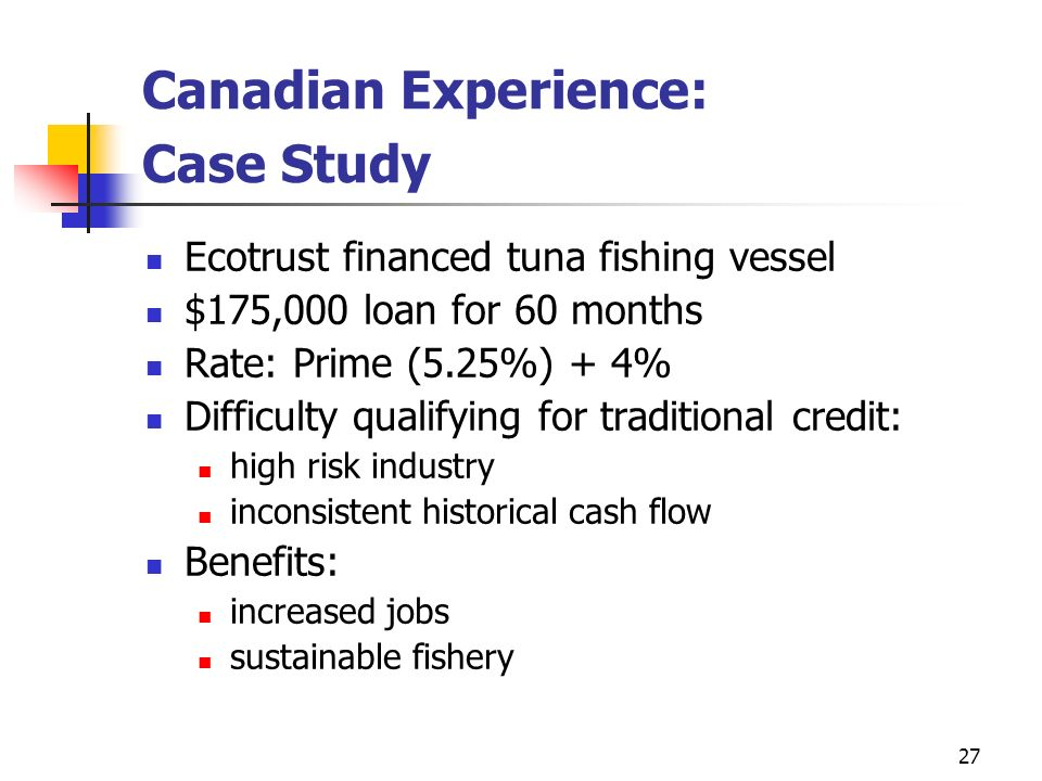 Canadian Experience: Case Study