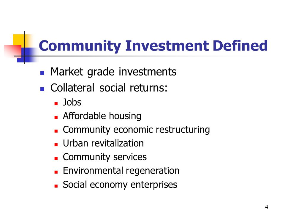 Community Investment Defined