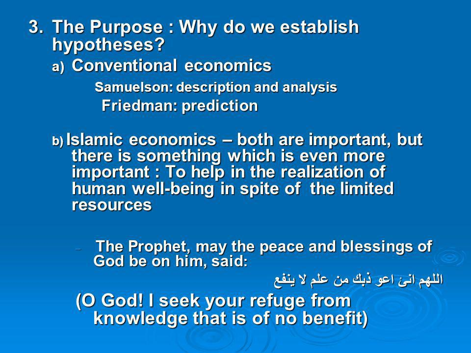 3. The Purpose : Why do we establish hypotheses