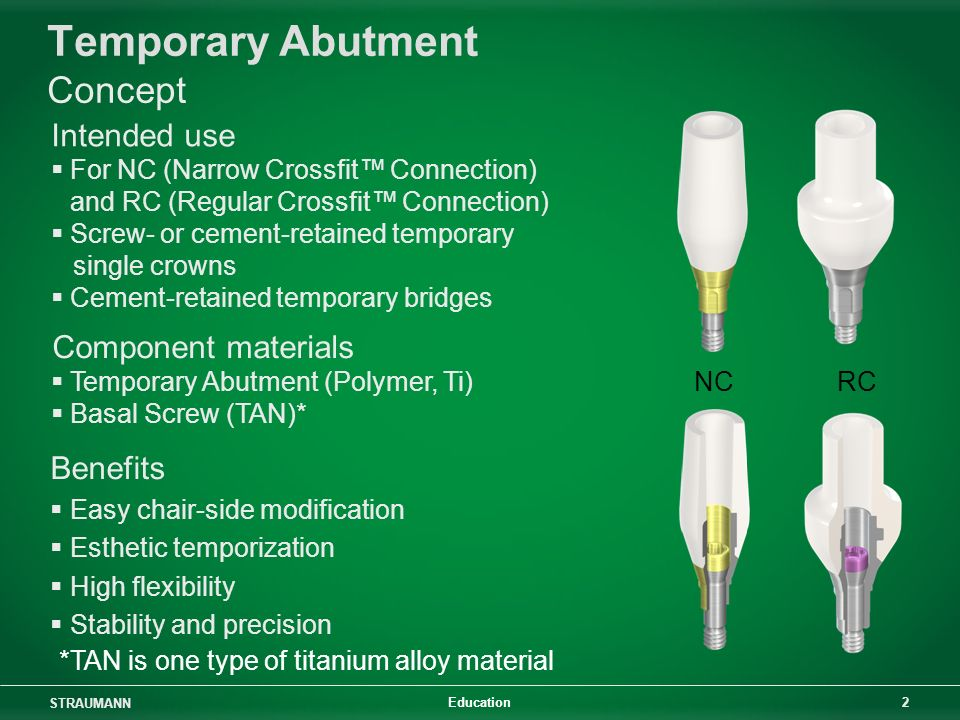 Temporary Abutment Concept