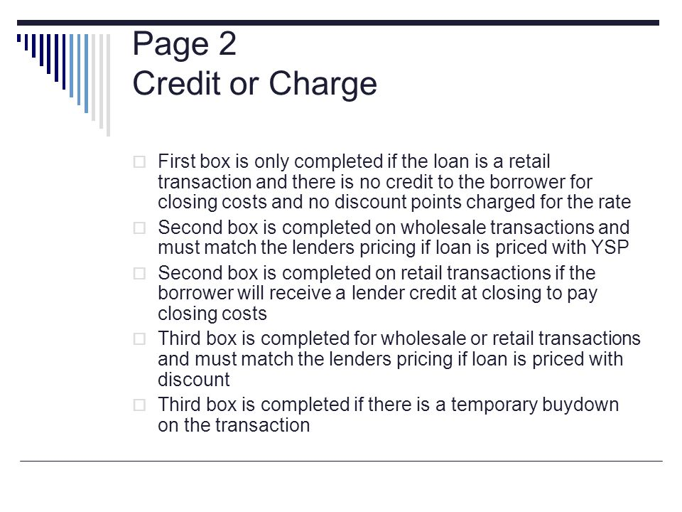 Page 2 Credit or Charge