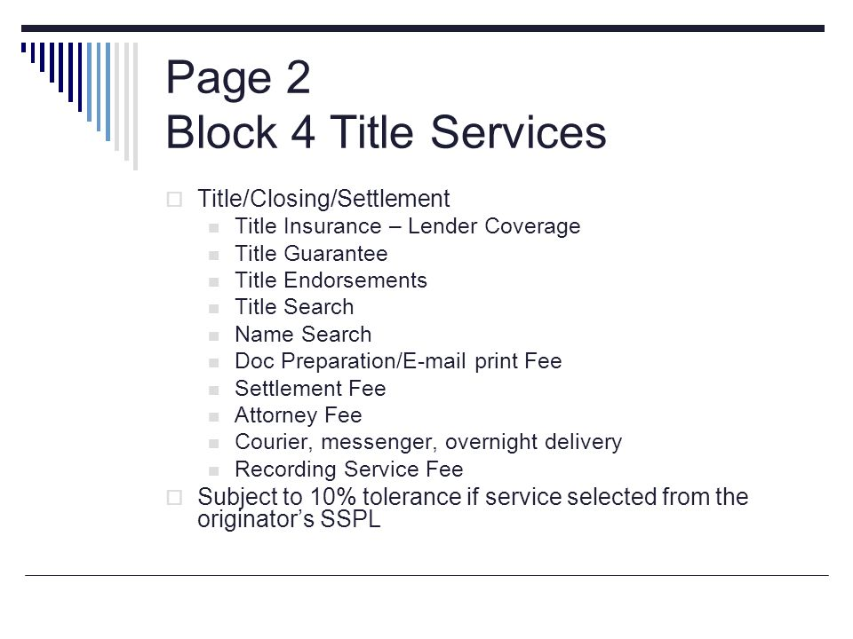 Page 2 Block 4 Title Services