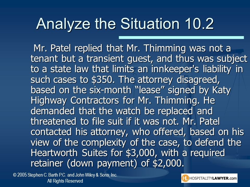 Analyze the Situation 10.2