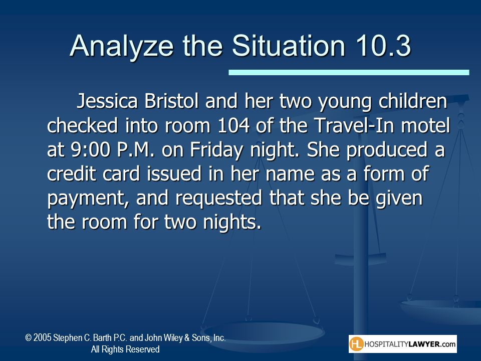 Analyze the Situation 10.3