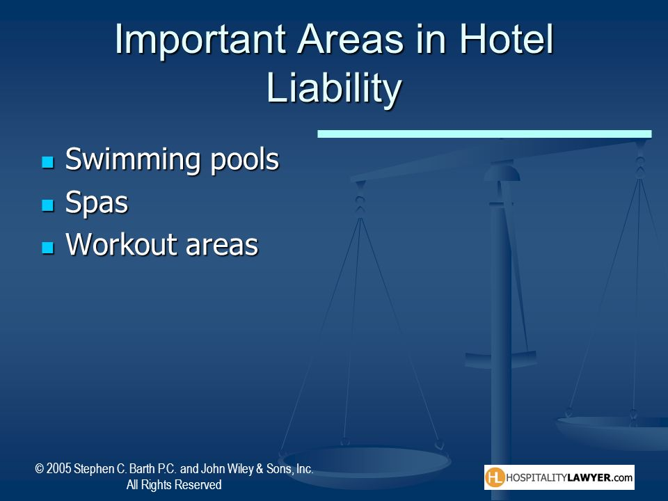 Important Areas in Hotel Liability
