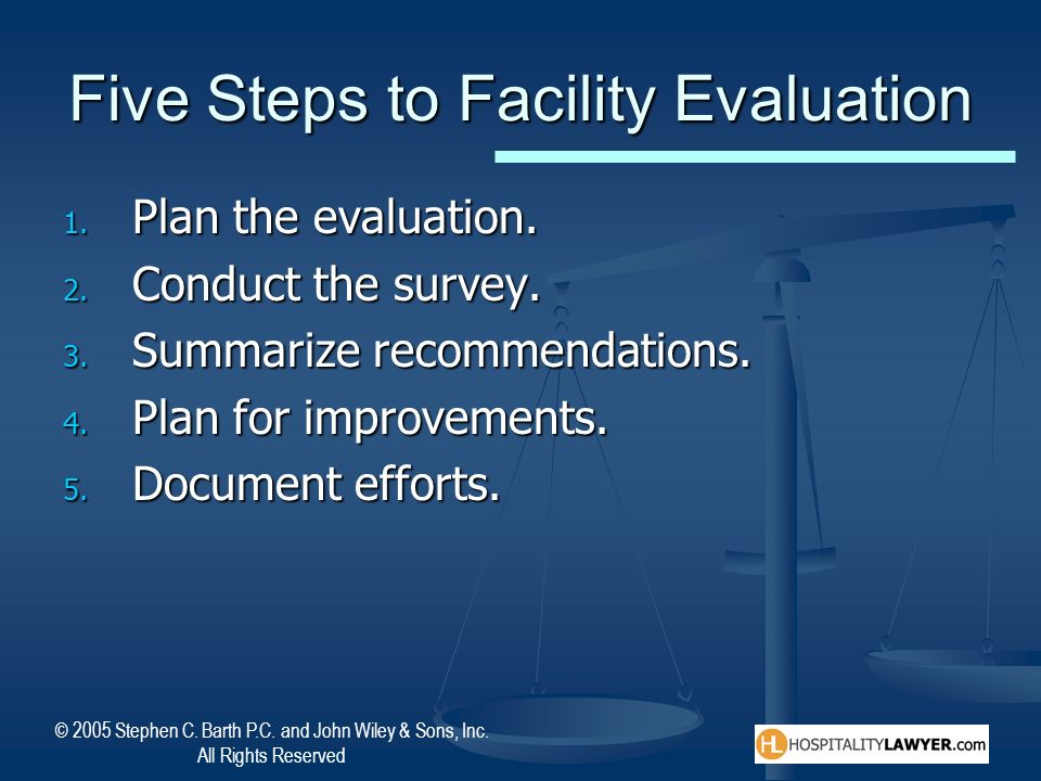 Five Steps to Facility Evaluation