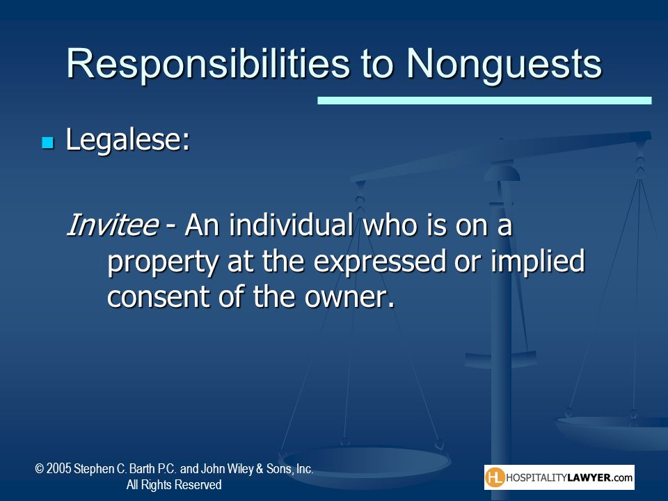 Responsibilities to Nonguests