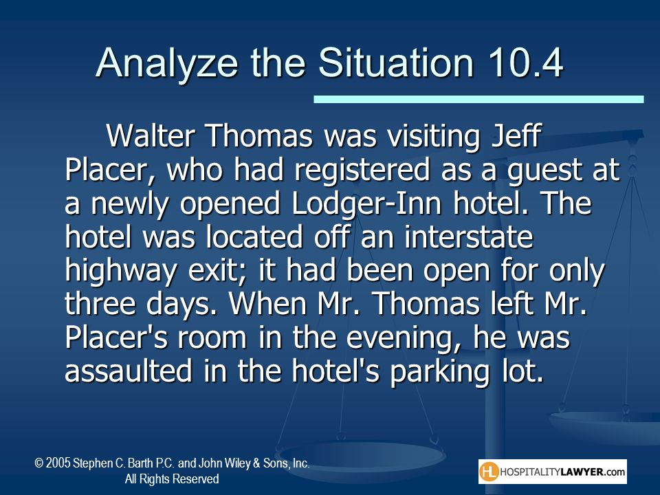 Analyze the Situation 10.4