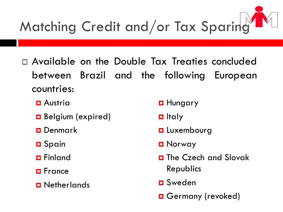 Matching Credit and/or Tax Sparing