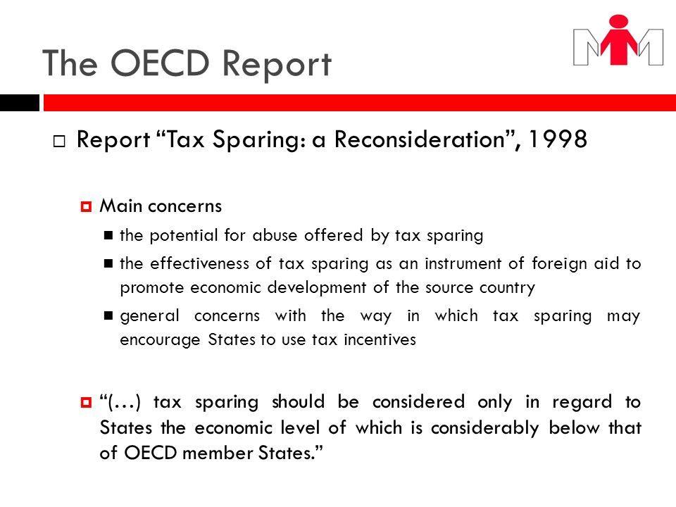 The OECD Report Report Tax Sparing: a Reconsideration , 1998