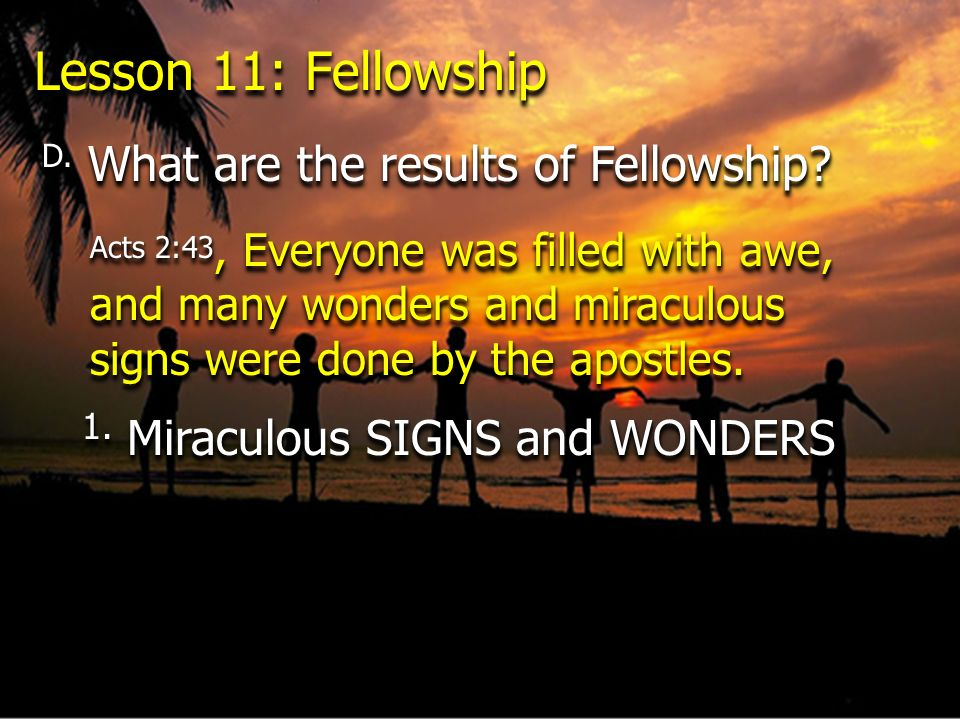 1. Miraculous SIGNS and WONDERS
