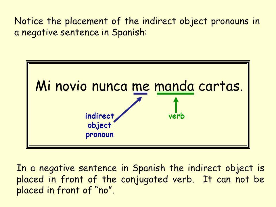 indirect object pronoun