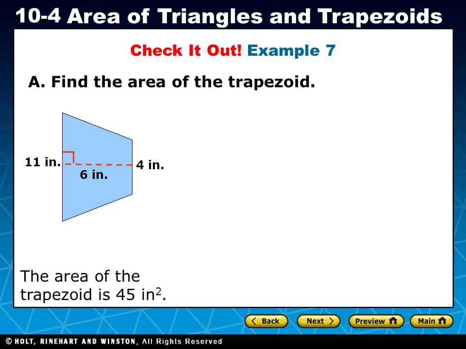 A. Find the area of the trapezoid.
