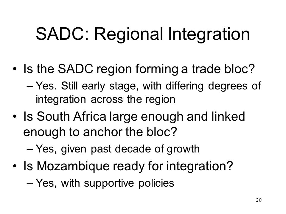 SADC: Regional Integration