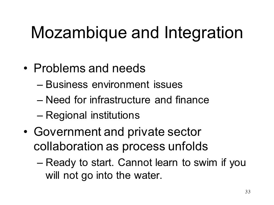 Mozambique and Integration