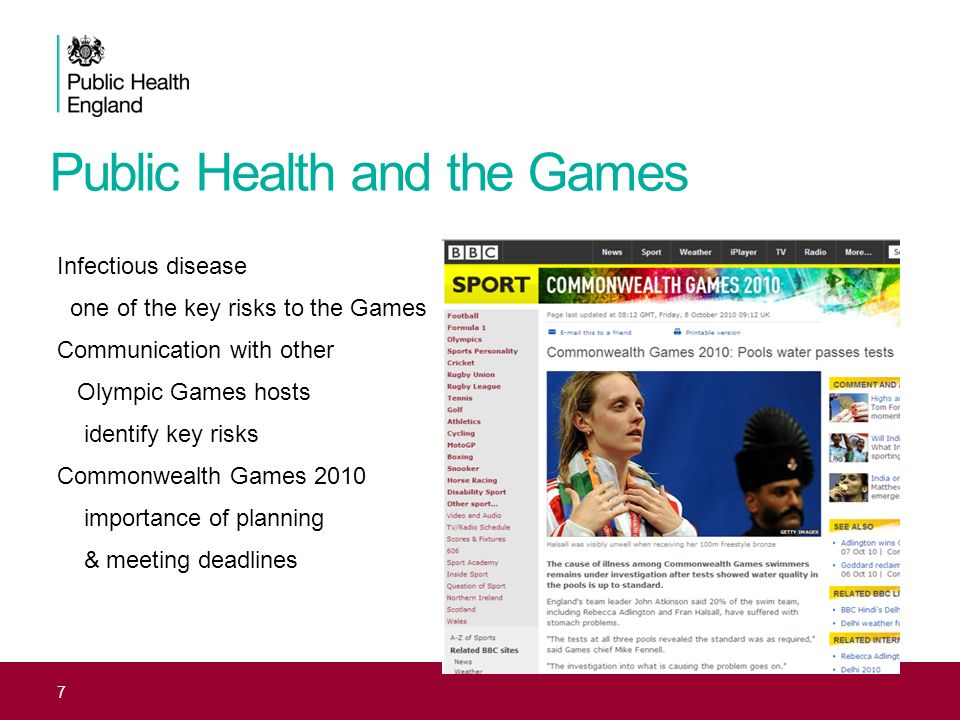 Public Health and the Games