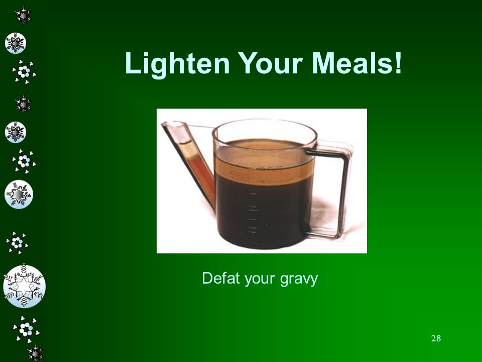 Lighten Your Meals! Defat your gravy