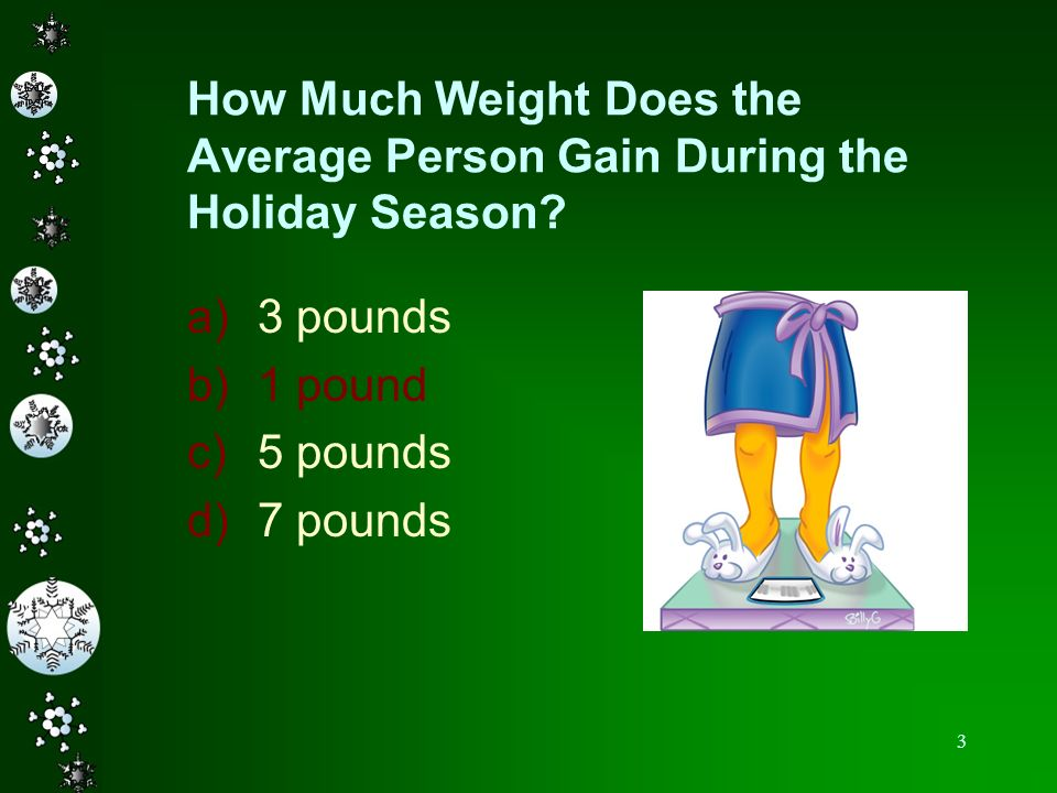 How Much Weight Does the Average Person Gain During the Holiday Season