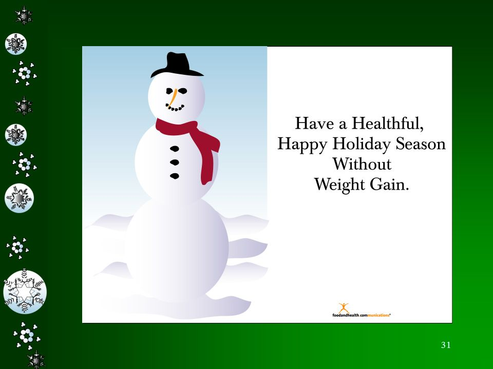 Happy Holidays – we hope you have enjoyed our show to learn how to keep your weight the same during the holidays.