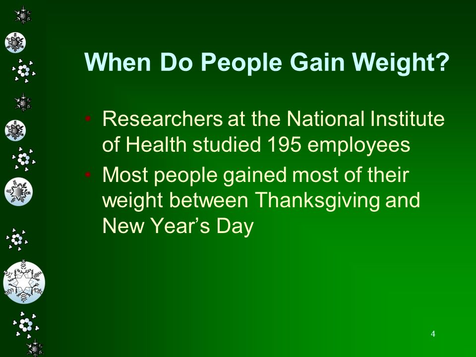 When Do People Gain Weight