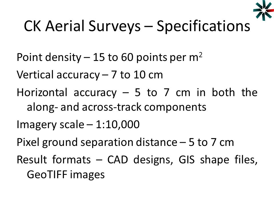 CK Aerial Surveys – Specifications
