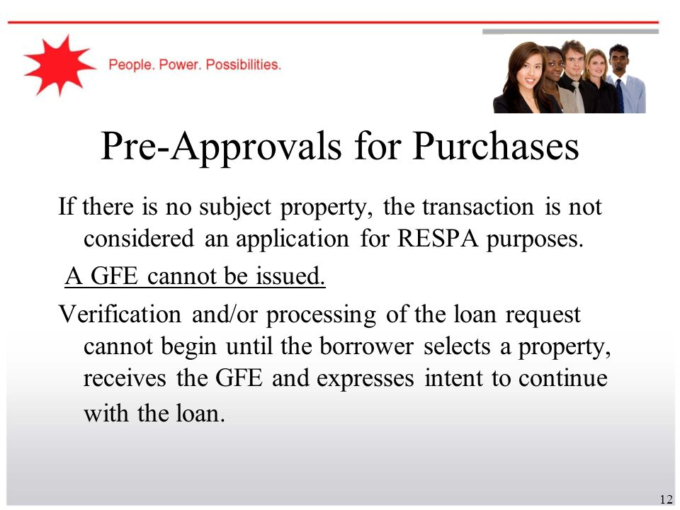 Pre-Approvals for Purchases