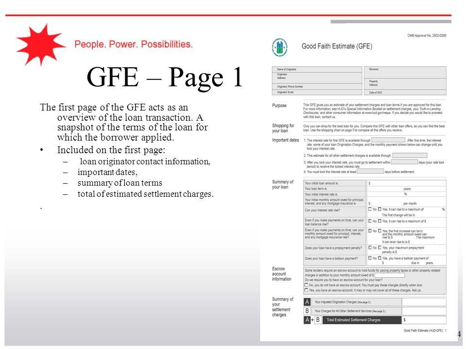 GFE – Page 1
