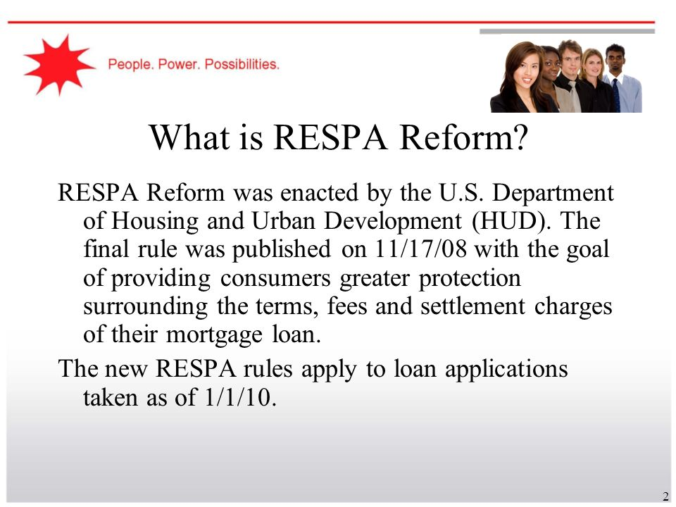 What is RESPA Reform