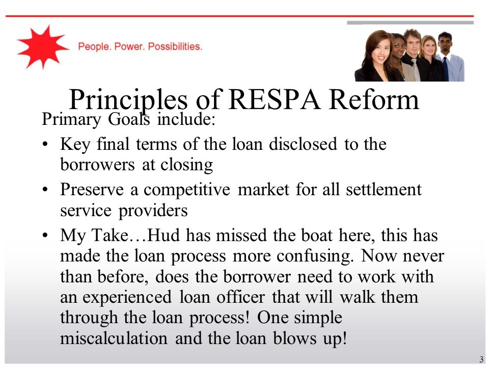 Principles of RESPA Reform