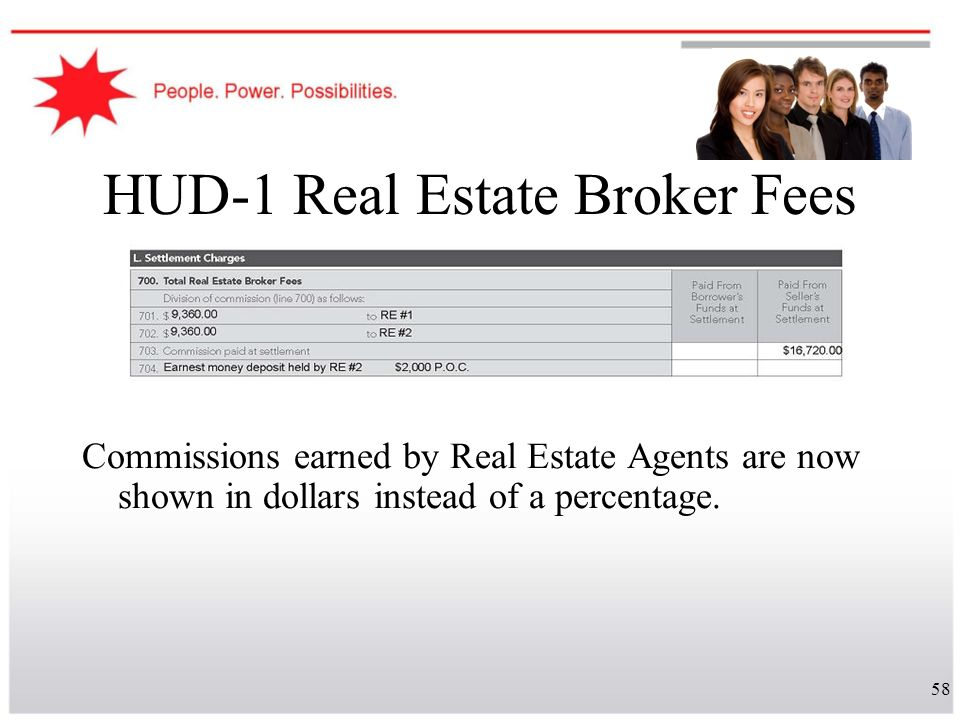 HUD-1 Real Estate Broker Fees