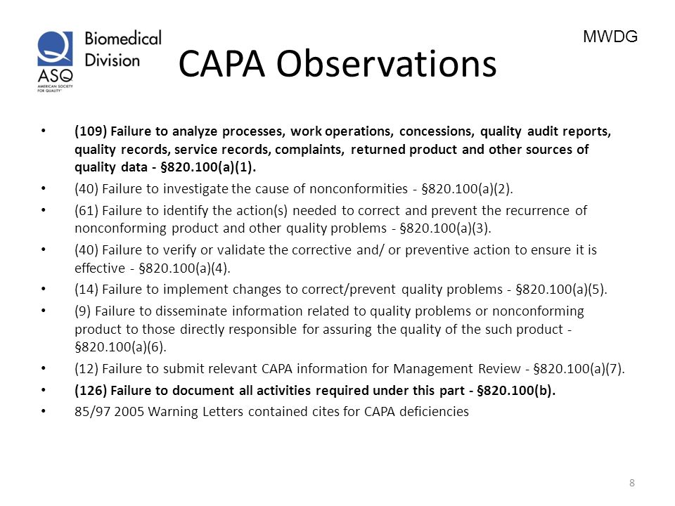 CAPA Observations