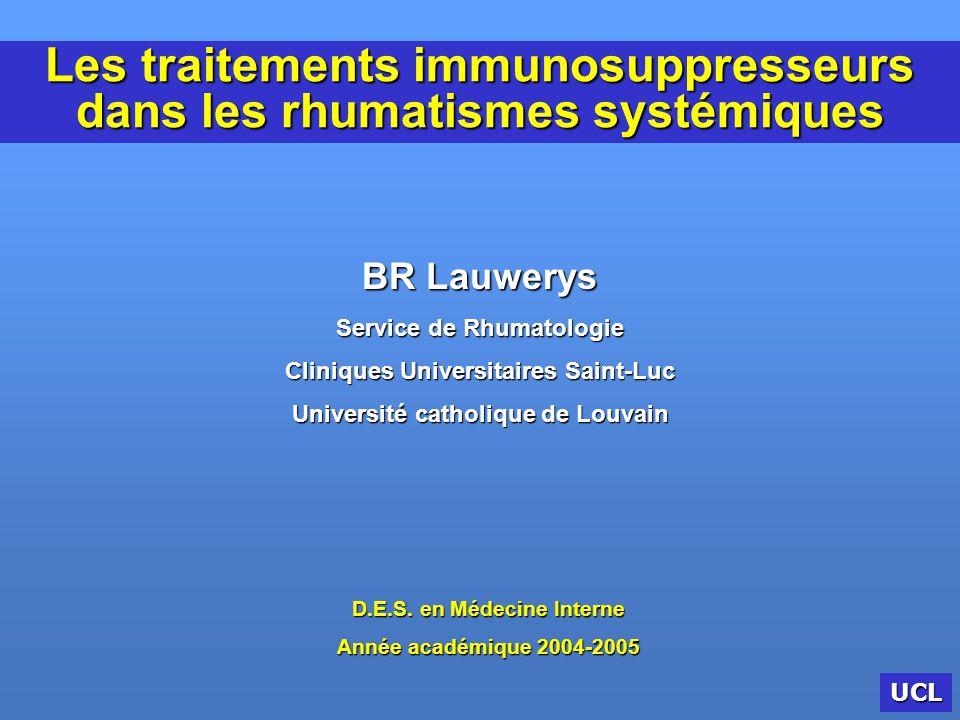 Les traitements immunosuppresseurs dans les rhumatismes systémiques