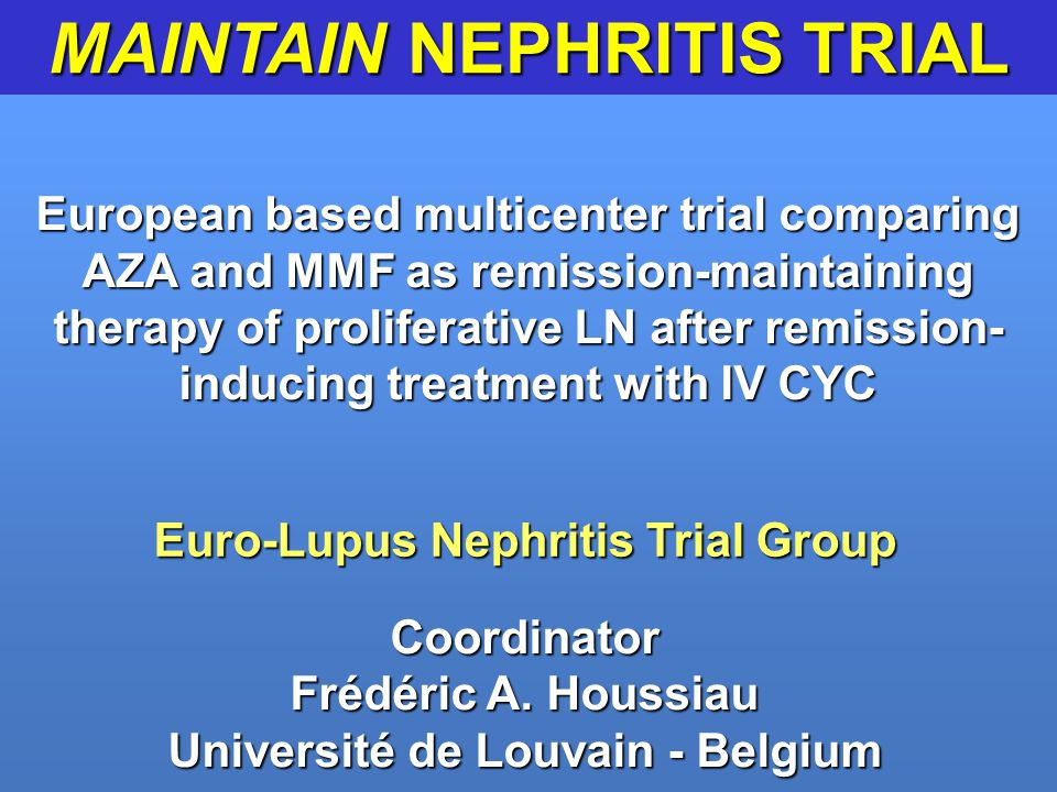 MAINTAIN NEPHRITIS TRIAL