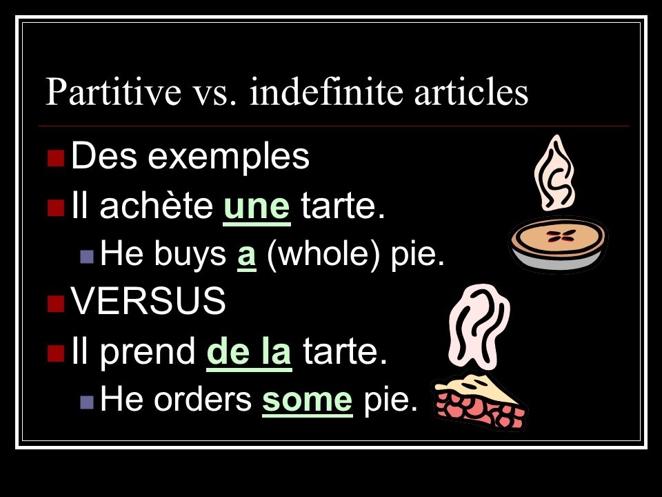 Partitive vs. indefinite articles