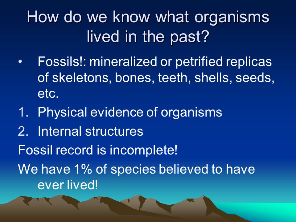 How do we know what organisms lived in the past