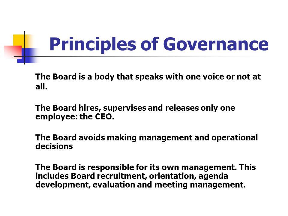 Principles of Governance