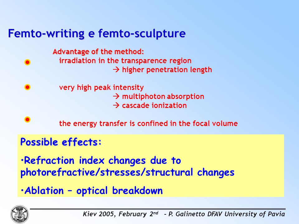 Femto-writing e femto-sculpture
