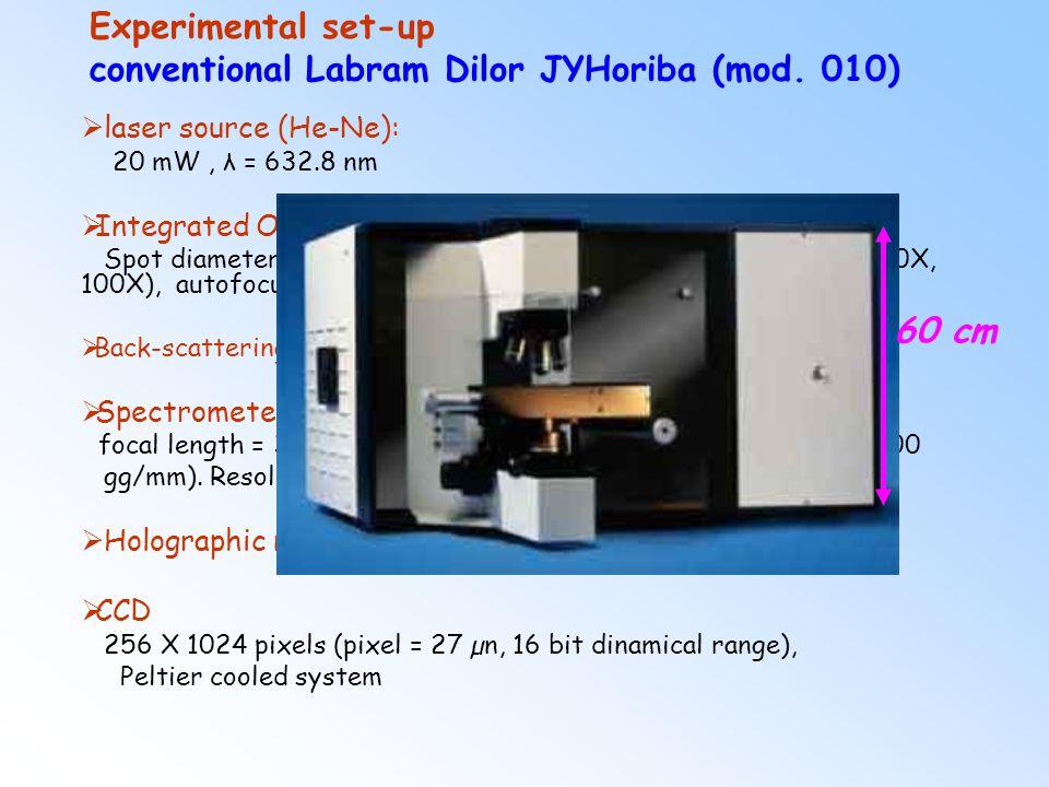 Experimental set-up conventional Labram Dilor JYHoriba (mod. 010)