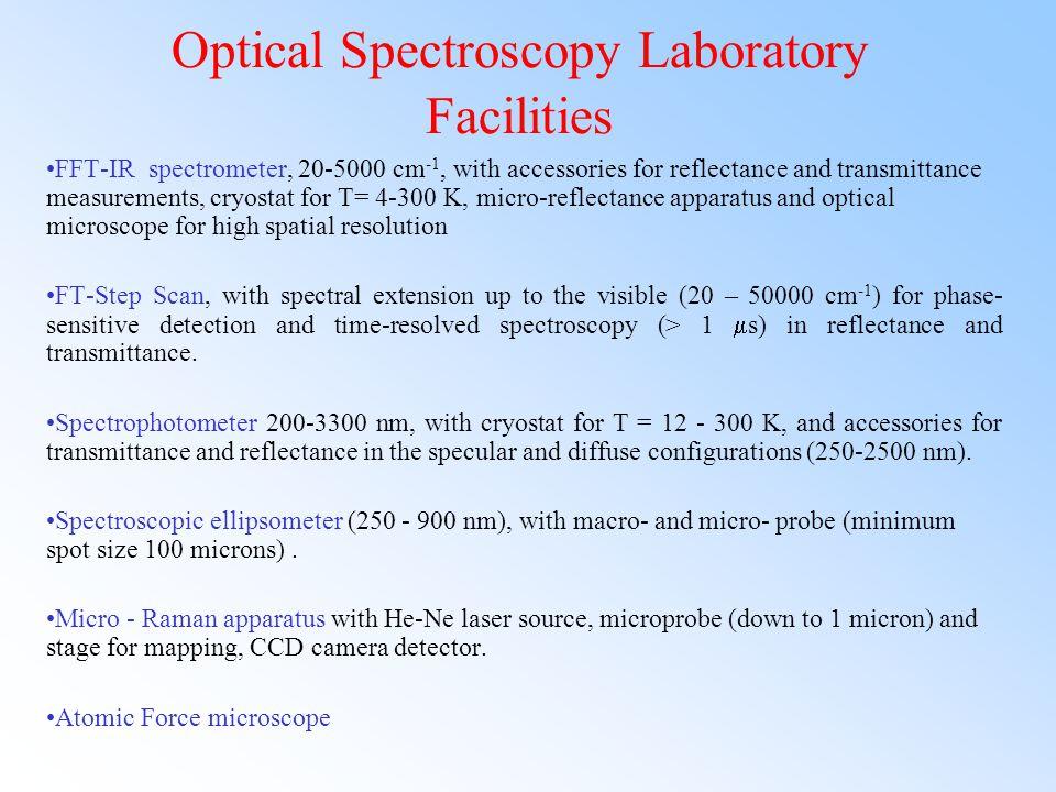 Optical Spectroscopy Laboratory Facilities