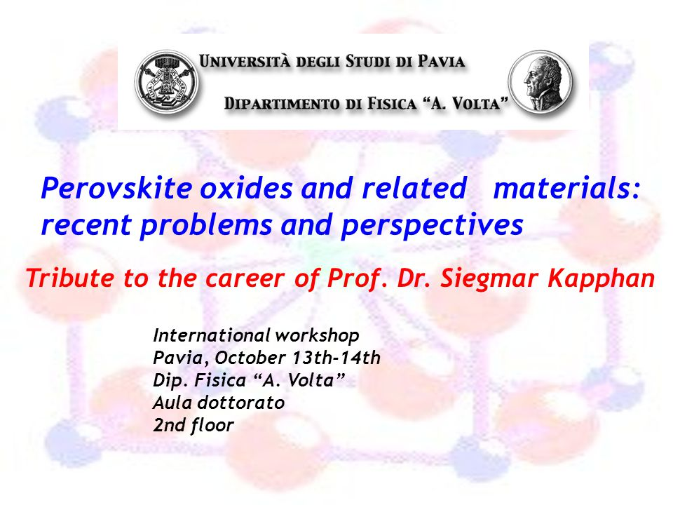 Perovskite oxides and related materials: recent problems and perspectives